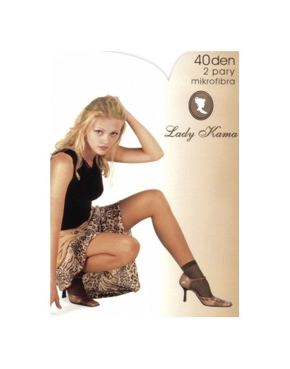 Skarpetki damskie z mikrofibry 40den bezuciskowe Lady Kama