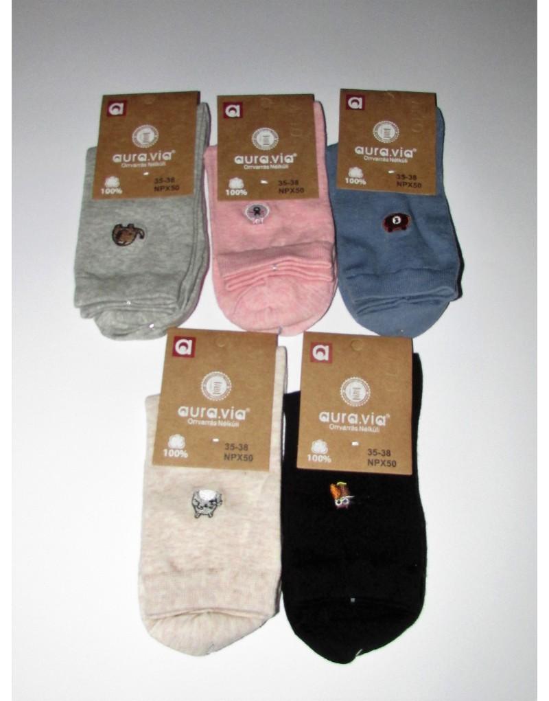 Skarpetki damskie bawełniane klasyczne (pięć par)