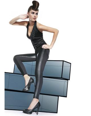 Legginsy spodnie Ingrid Casual damskie ze skórzanymi   kieszeniami PS