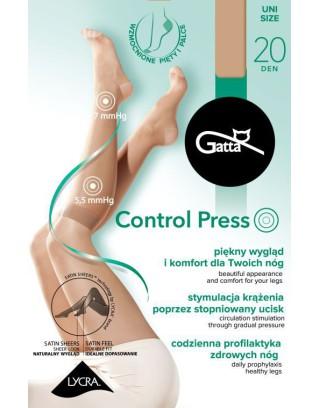 Podkolanówki damskie przeciwżylakowe Gatta -  Control Press 20 den