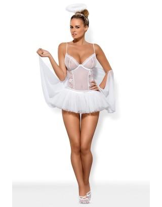 Kostium Swangel ze skrzydłami biały Obsessive