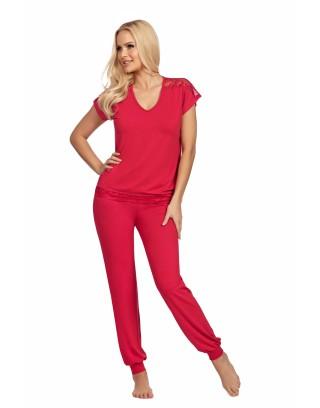 Piżama Damska Lena -długie spodnie i koszulka krótki rękaw