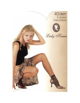 Skarpety kryjące matowe 40 den Lady Kama