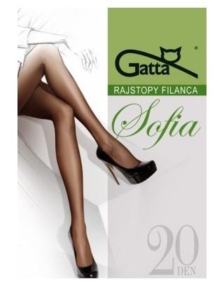 Rajstopy damskie Gatta-Sofia 20 den roz 2-6