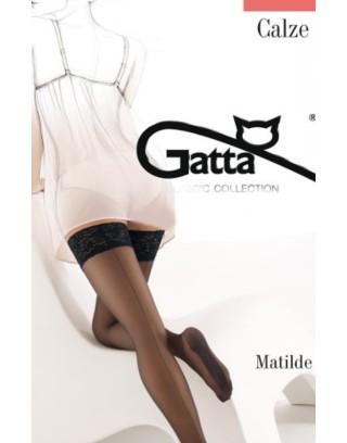 Pończochy samonośne ze szwem Gatta - Matilde